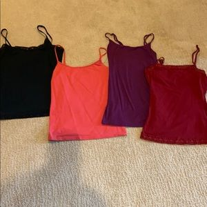 LOT Of 4 camisoles from Loft and the Limited